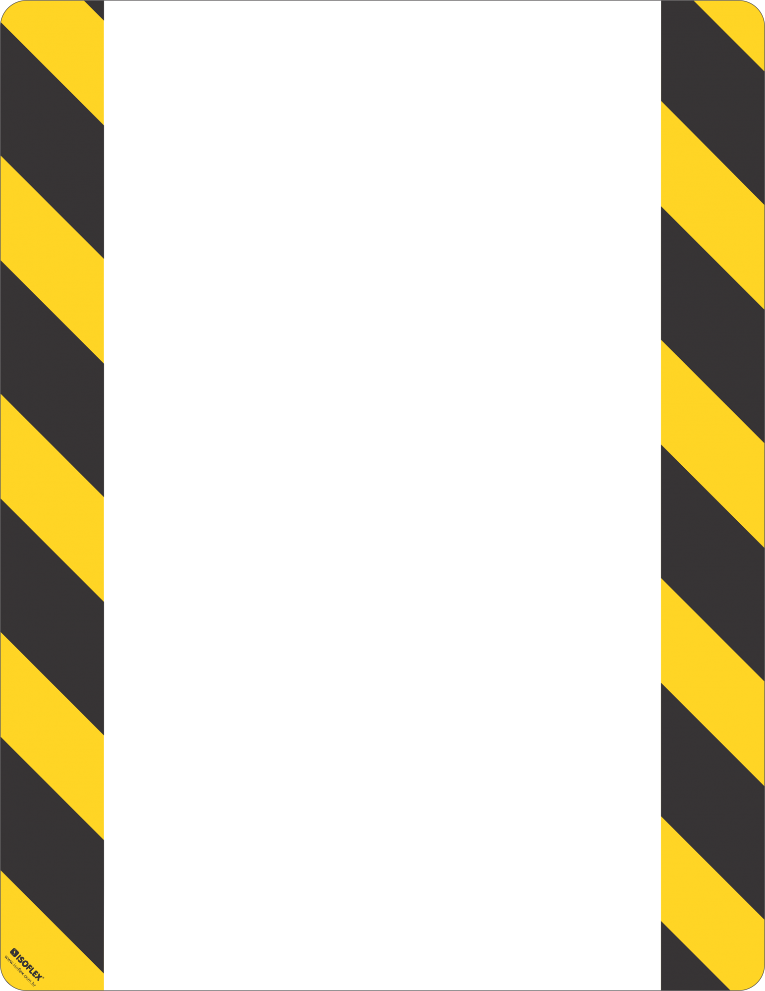 Identificador de Piso Zebrado | Kit com 5 unidades
