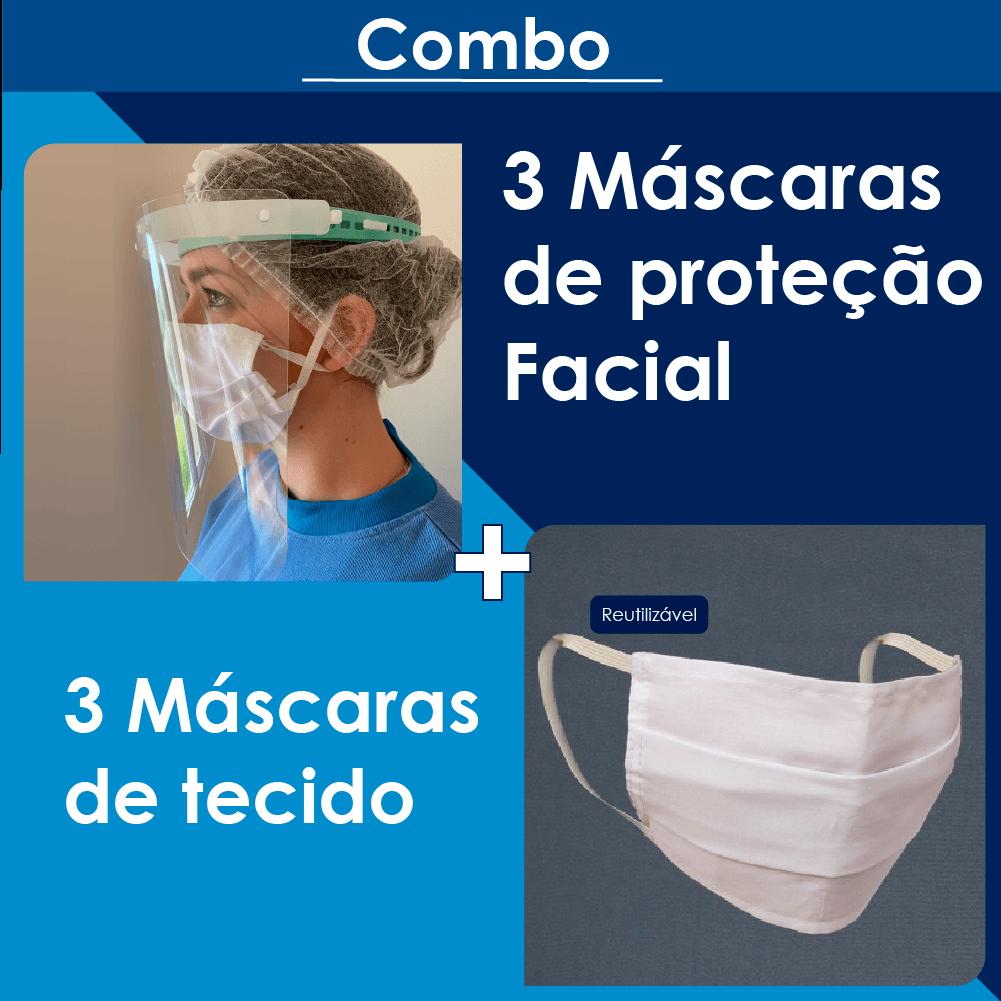 Kit Face Shield Soft + Máscara de tecido