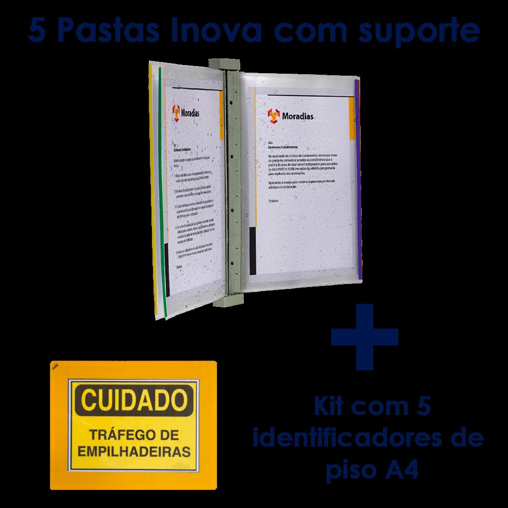 Kit Pasta Inova com suporte + Identificador de Piso
