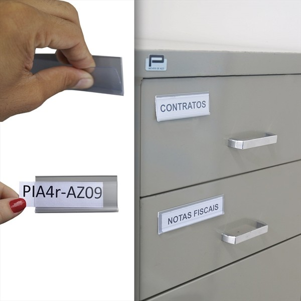 Porta etiqueta PHP  | Kit 5 unidades