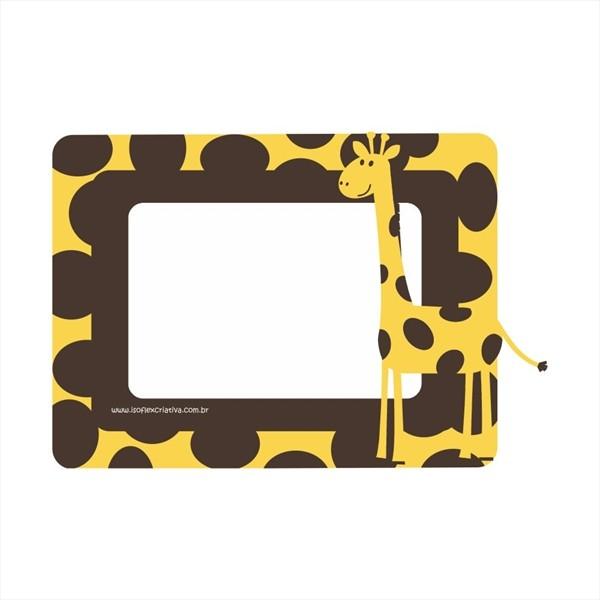 Porta retrato criativo - Girafa 21,5 x 15,5cm