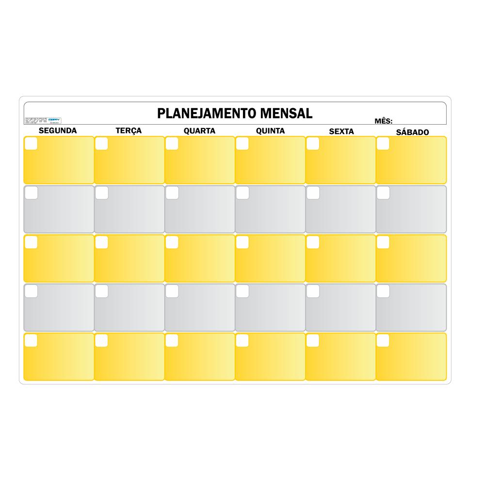 Quadro FLEXÍVEL de Planejamento Mensal