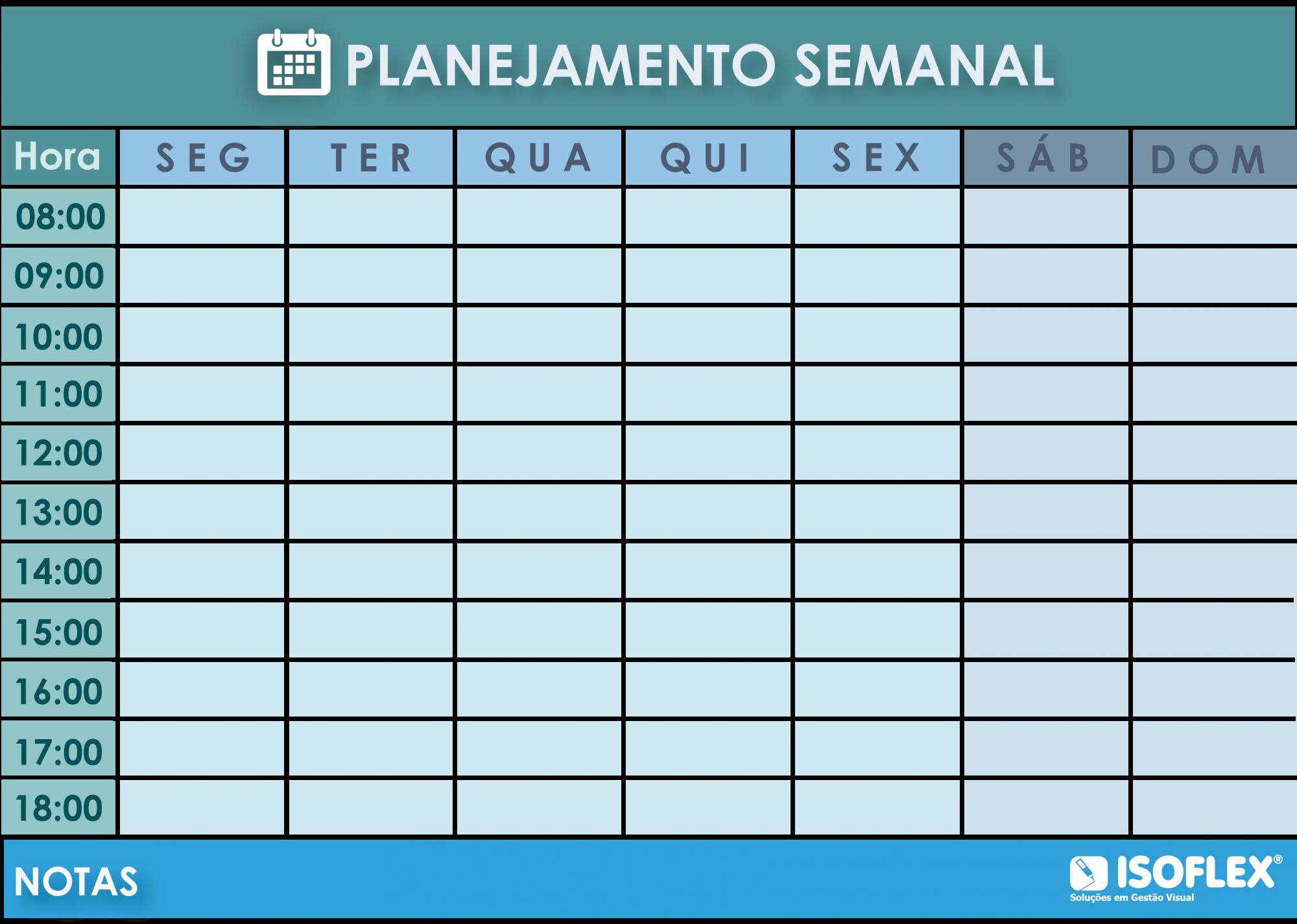 Quadro Flexível Moppy Flex - Planner Semanal