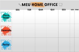 Quadro Flexível Personalizado - Home Office - 60x90cm