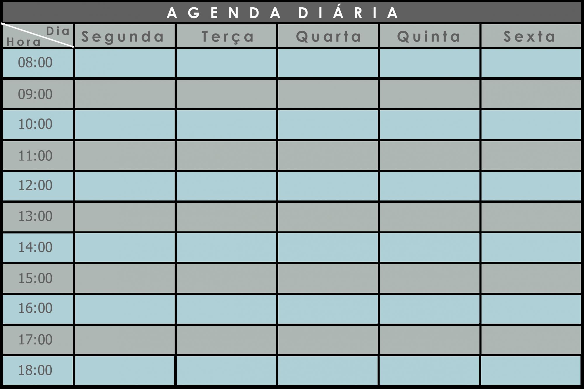 Quadro FLEXÍVEL Planejamento Diário