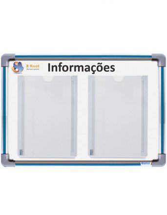 Quadro em MDF Informativo Para 02 Folhas A4