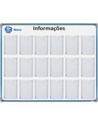Quadro em MDF Informativo Para 18 Folhas A4