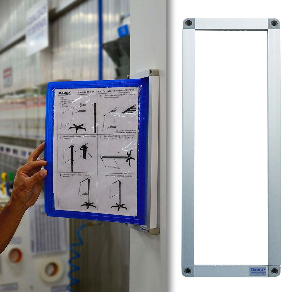 Suporte de Alumínio para Pastas A4 Retrato/Vertical - Isoflex