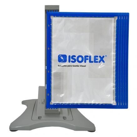 Suporte inteligente de mesa com 10 pastas Isoflex