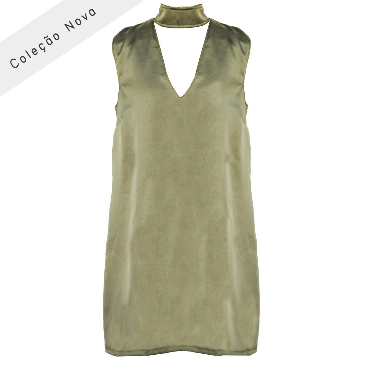 Vestido Cometa Verde Militar
