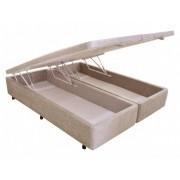 Cama Box Suede/Chenille Queen C/Baú