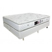 Colchão + Box da Luckspuma King Size de Molas Ensacadas Satisfaction Pocket