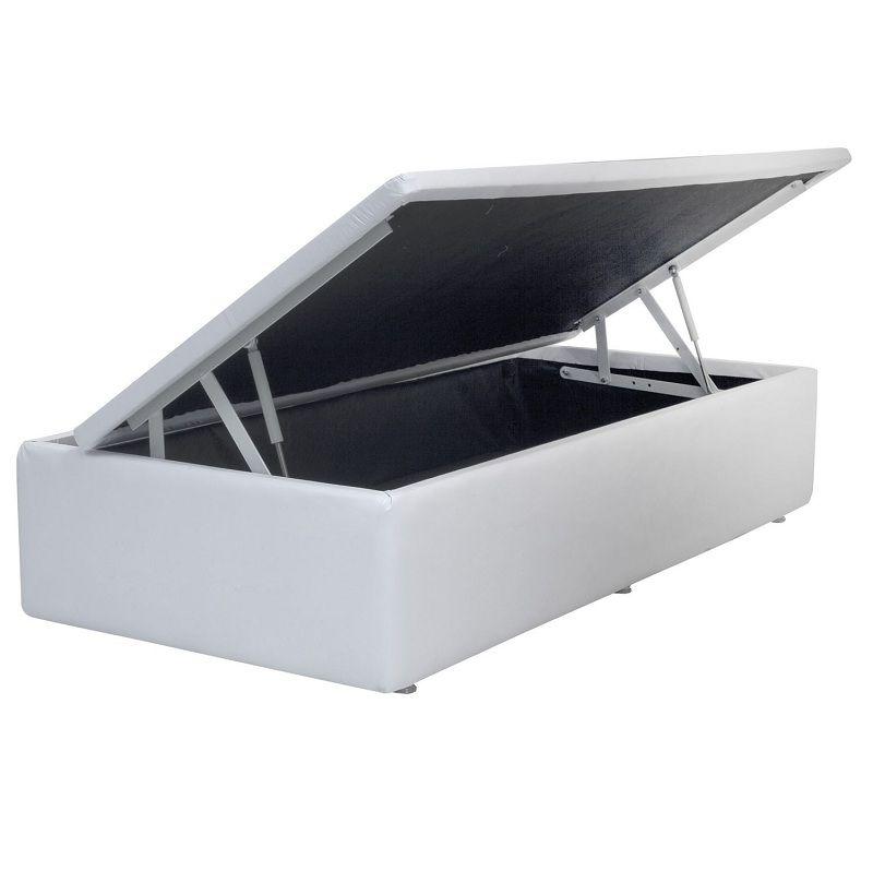 Cama Box Baú c/Pistão - Corino