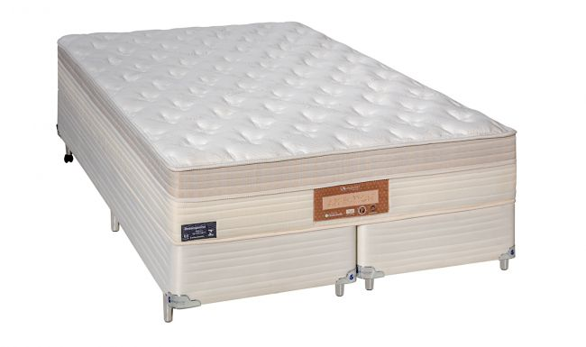 Cama Box Com Colchão Casal Sankonfort Affection Com Molas Ensacadas 2X Action