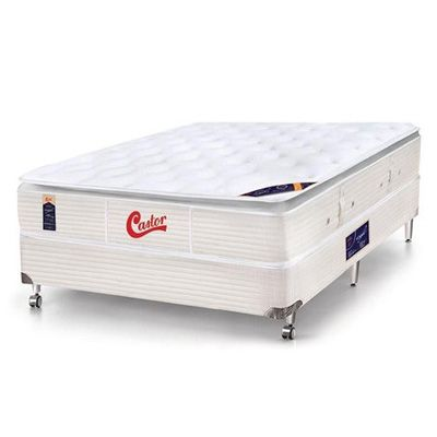 Cama Box Com Colchão Castor Gold Star Super Luxo Vitagel One Face