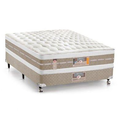 Cama Box Com Colchão Castor Silver Star Air Double Face Com Molas Pocket