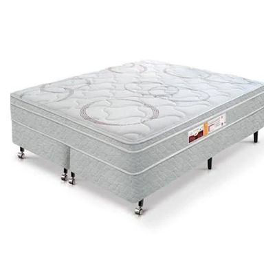 Cama Box Com Colchão Castor Sr Victory One Face Com Molas Pocket