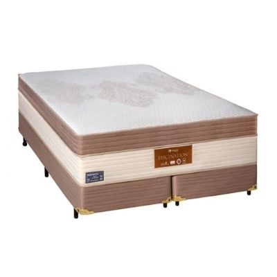 Cama Box Com Colchão Sankonfort Fascination Com Molas Ensacadas 3x Action