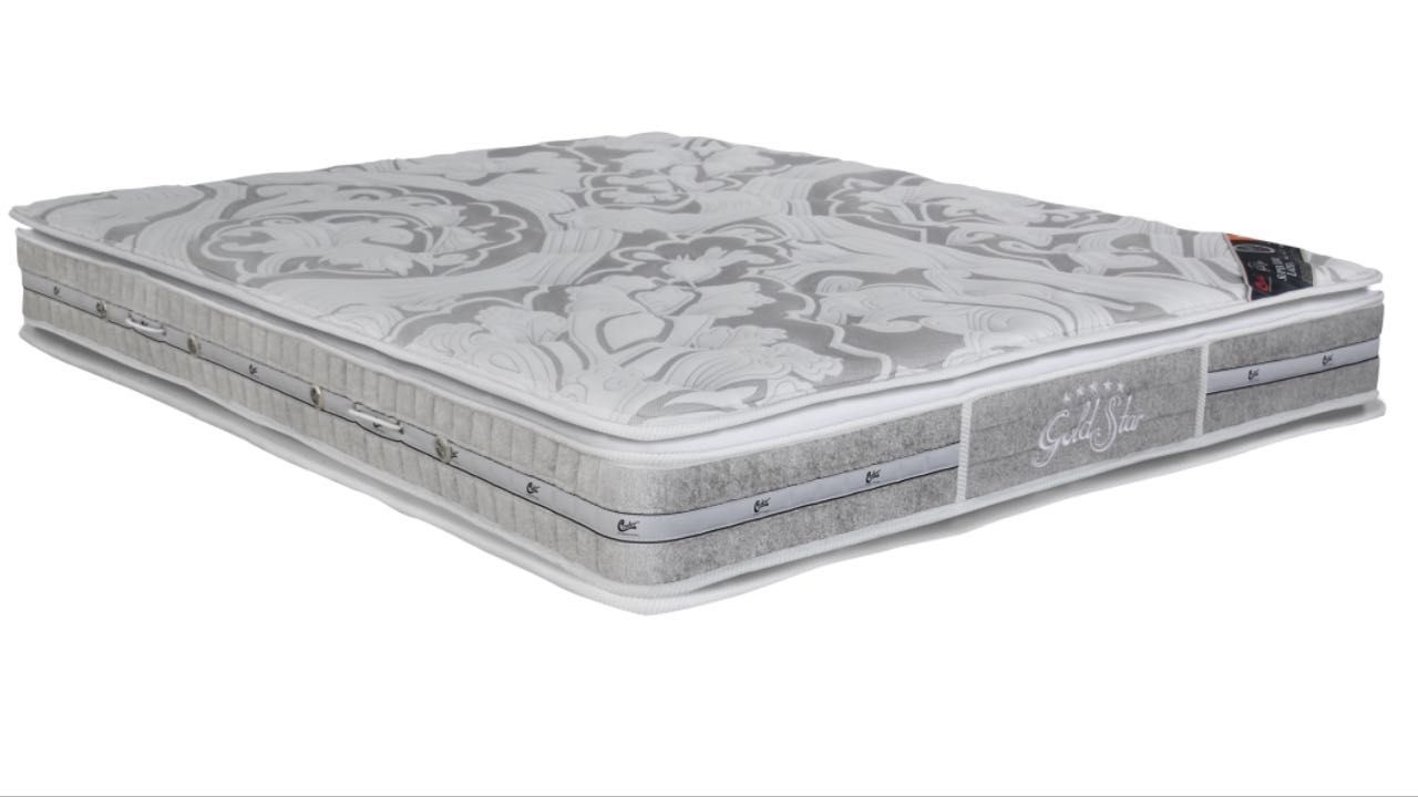 Cama Box Com Colchão King Size Castor Gold Star Super Luxo Latex  Com Molas Pocket