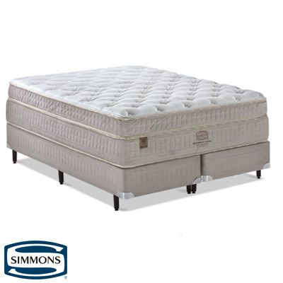 Cama Box Com Colchão King Size Simmons Goldsmith Com Molas Ensacadas