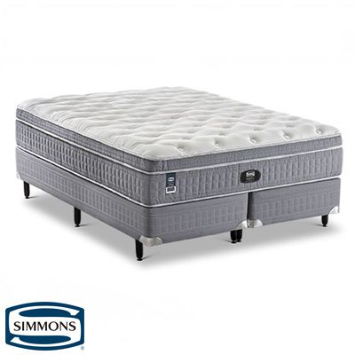 Cama Box Com Colchão Queen Size Intimate Beautysleep  Simmons Molas Ensacadas