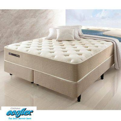 Cama Box Com Colchão Queen Size Ecoflex Excellence Com Molas Superlastic