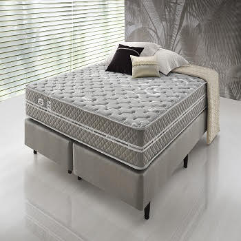 Cama Box Com Colchão Queen Size Ecoflex  High Density II Com Molas Superlastic