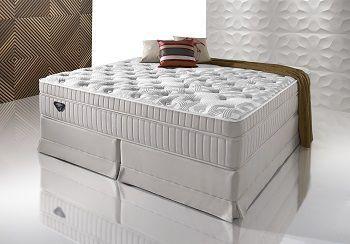 Cama Box Com Colchão Queen Size Ecoflex Majestic  Com Molas Ensacadas