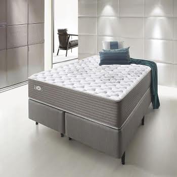Cama Box Com Colchão Queen Size Ecoflex Relax Access Com Molas Ensacadas