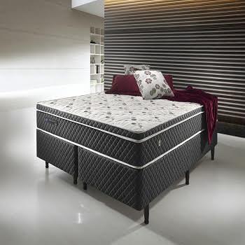 Cama Box Com Colchão Queen Size Ecoflex  Soft Comfort Com Molas Verticoil
