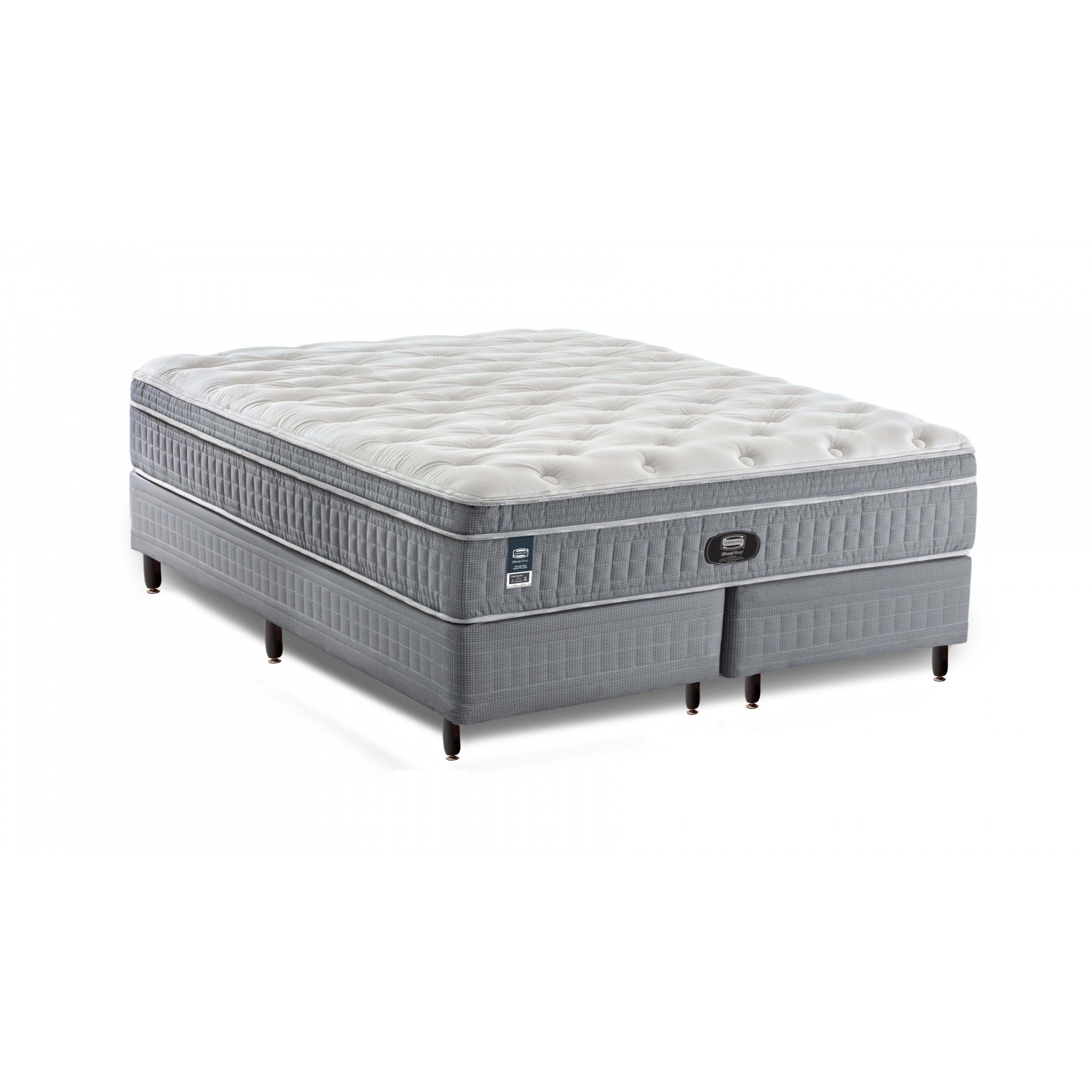 Cama Box Com Colchão Queen Size Finesse Beautysleep  Simmons Molas Ensacadas