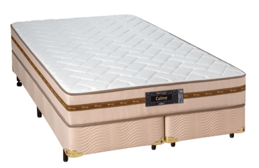 Cama Box Com Colchão Queen Size Sankonfort  Calme ComMolas Superlastic
