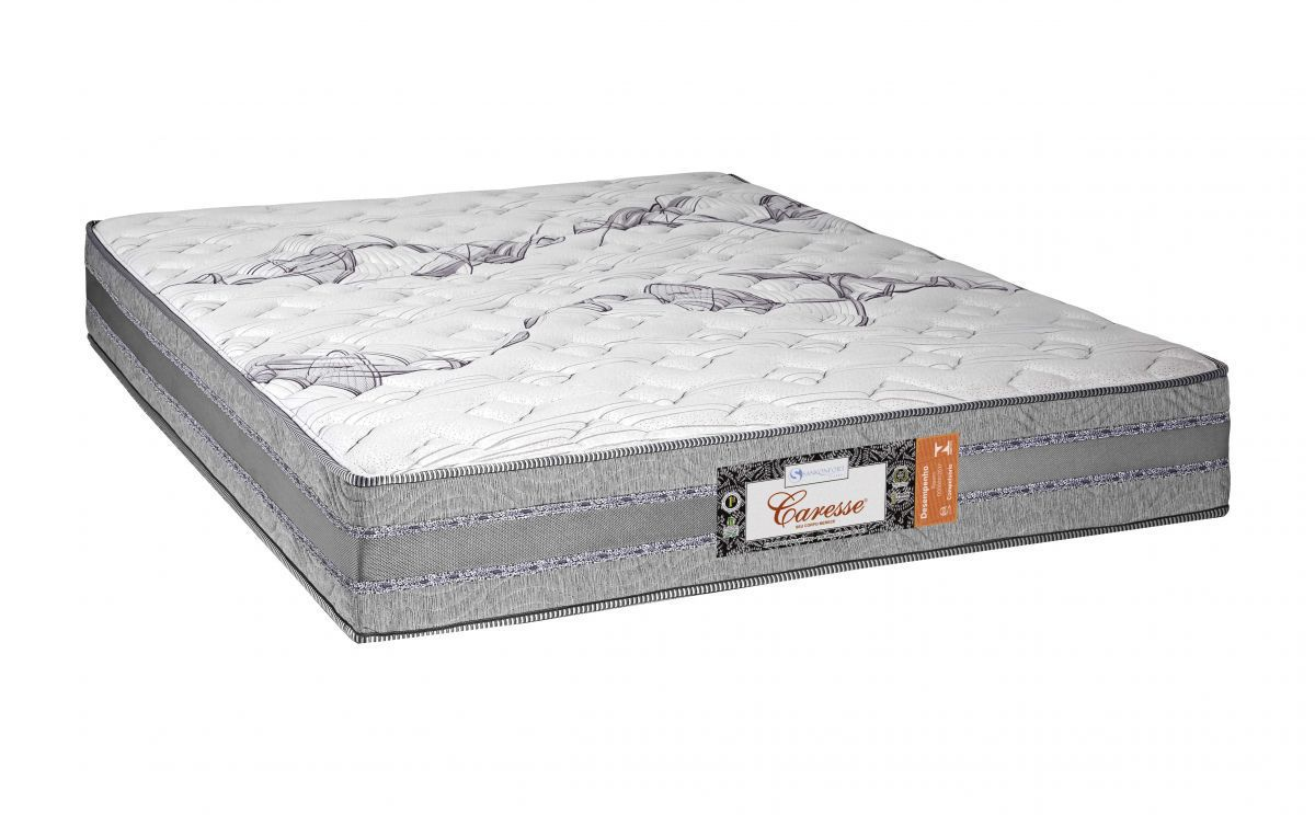 Cama Box Com Colchão Queen Size Sankonfort  Caresse Com Molas Ensacadas 2X Action