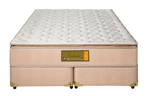 Cama Box Com Colchão Queen Size Sankonfort Orleans Com Molas Superlastic