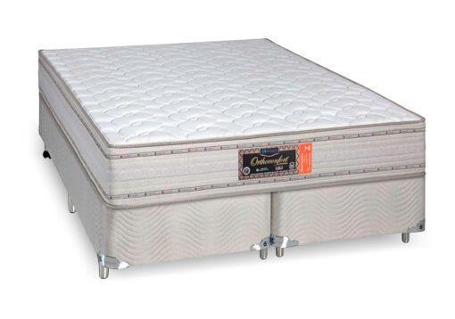 Cama Box Com Colchão Queen Size Sankonfort Orthoconfort Com Molas Supertastic