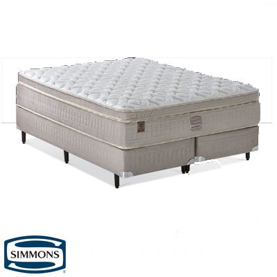 Cama Box Com Colchão Queen Size Simmons Goldsmith Com Molas Ensacadas