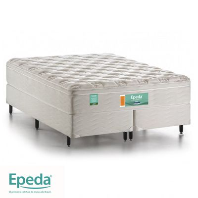 Cama Box Com Colchão Queen Size Epeda Ideal Com Molas Ensacadas