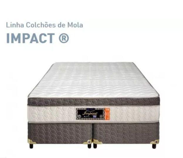 Cama Box Com Colchão Sankonfort Impact  Com Molas Ensacadas 2X Action