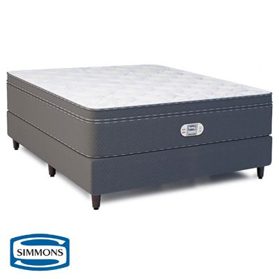 Cama Box Com Colchão Simmons Bamboo Celebrating 10 Years com Molas Ensacadas