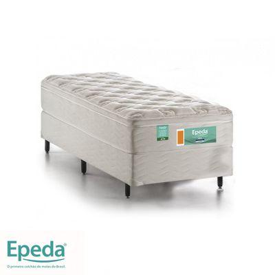 Cama Box Com Colchão Solteiro Epeda Ideal  Com Molas Ensacadas