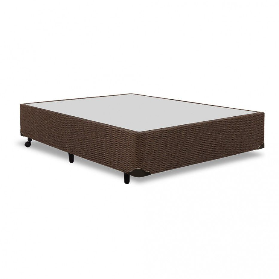 Cama Box Simples ou Universal Em Chenille