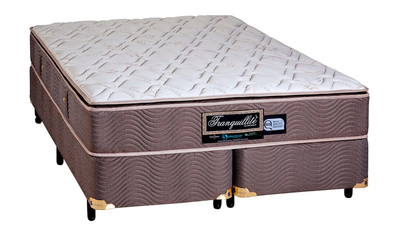 Colchão + Box da sankonfort  de Molas Bonnel Tranquillite One Side Queen