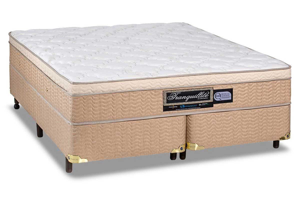Colchão + Box da Sankonfort de Molas Pocket Tranquillite One Side Queen