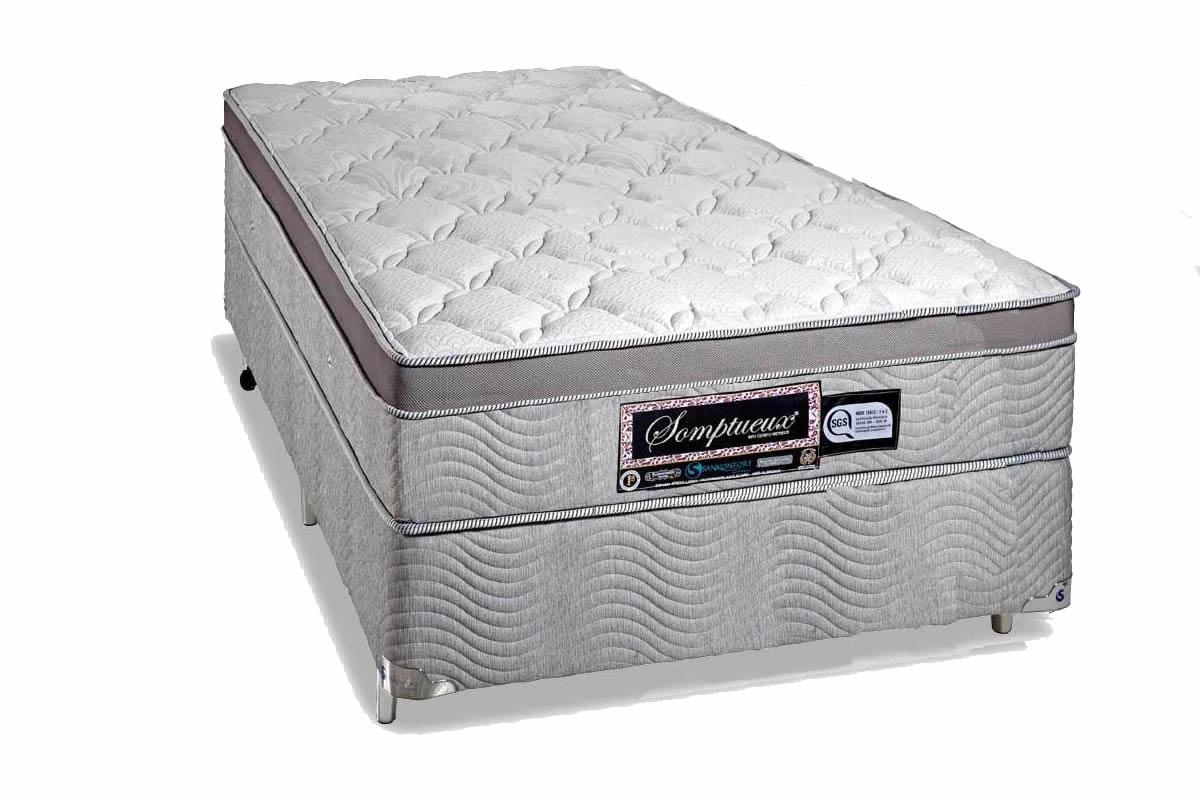 Colchão + Box da Sankonfort de Molas Superlastic Solteiro Somptueux