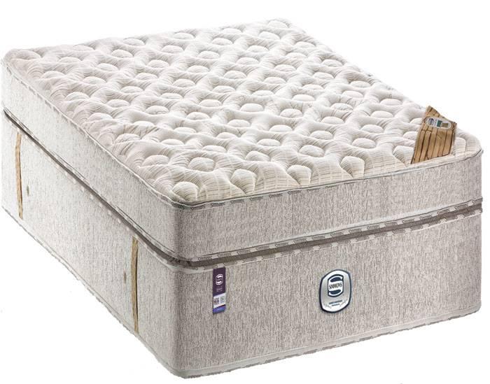 Colchão + Box  da  Simmons  de Molas Ensacadas Bamboo Anniversary Cotton Solteiro