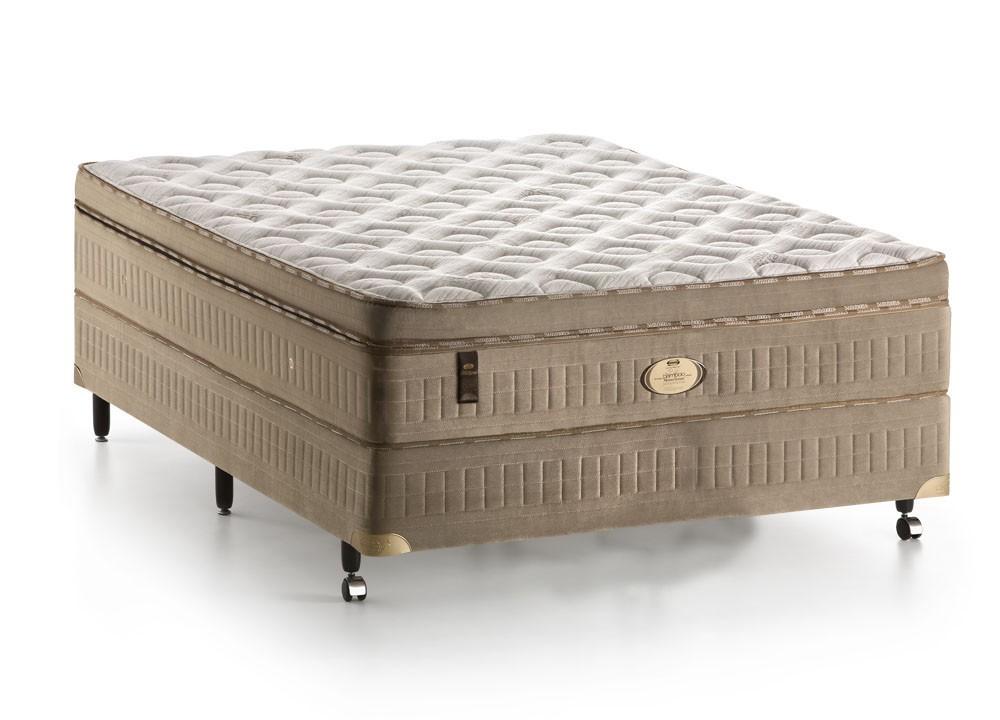Colchão + Box da Simmons de Molas Ensacadas Bamboo Memosense Collection  Love Profusion Casal
