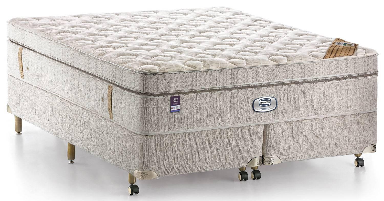 Colchão + Box  da  Simmons  King Size de Molas Ensacadas Bamboo Anniversary Cotton