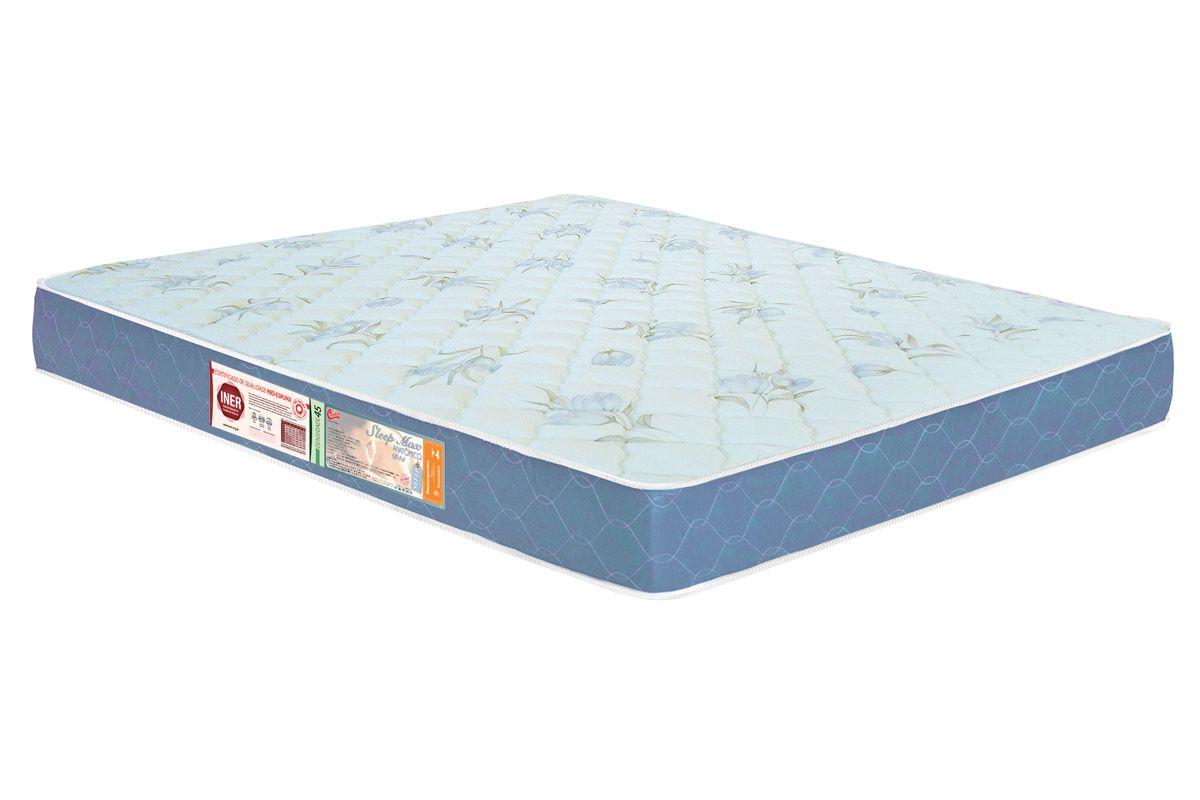 Colchão Castor King Size de espuma D45 Sleep Max Plus 18 cm