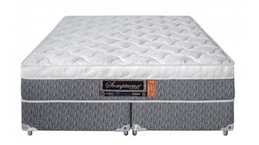 Cama Box Com Colchão Queen Size Sankonfort Somptueux Com Molas Superlastic