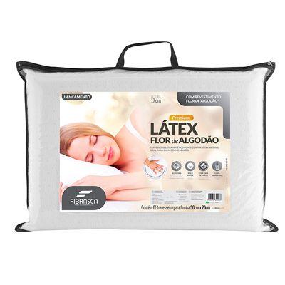 Travesseiro Fibrasca Flor de algodão Premium Látex
